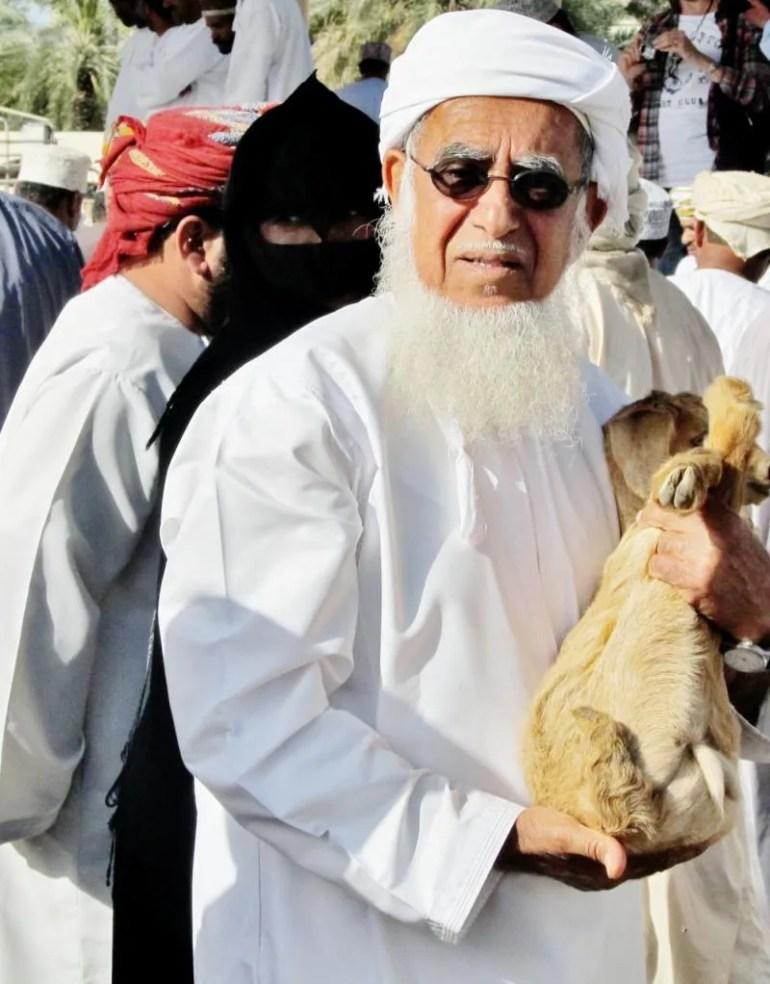 Geitenmarkt in Oman