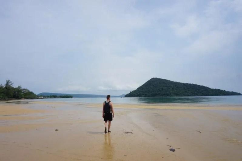 Stranden in Cambodja
