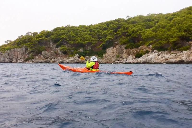 Kajakken op zee met Go Kayak Greece