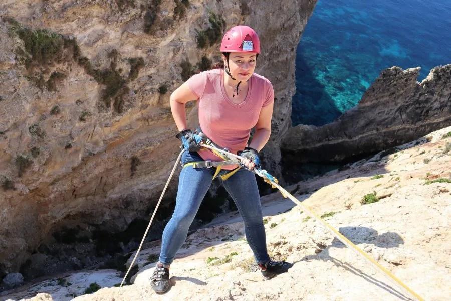 Abseilen en rotsklimmen in Malta