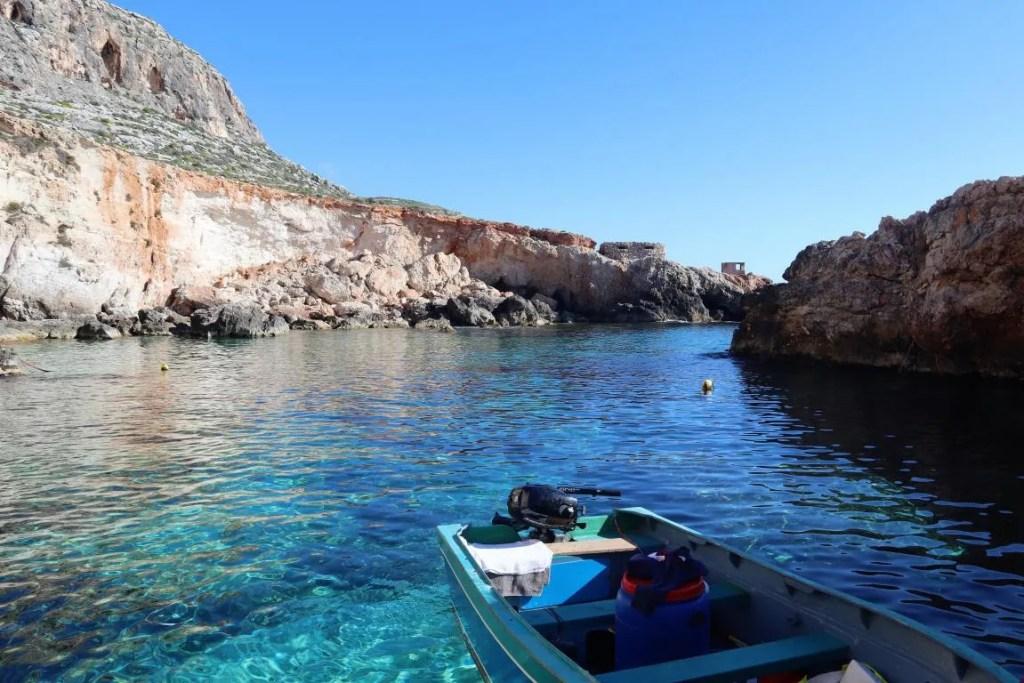 Għar Lapsi in Malta