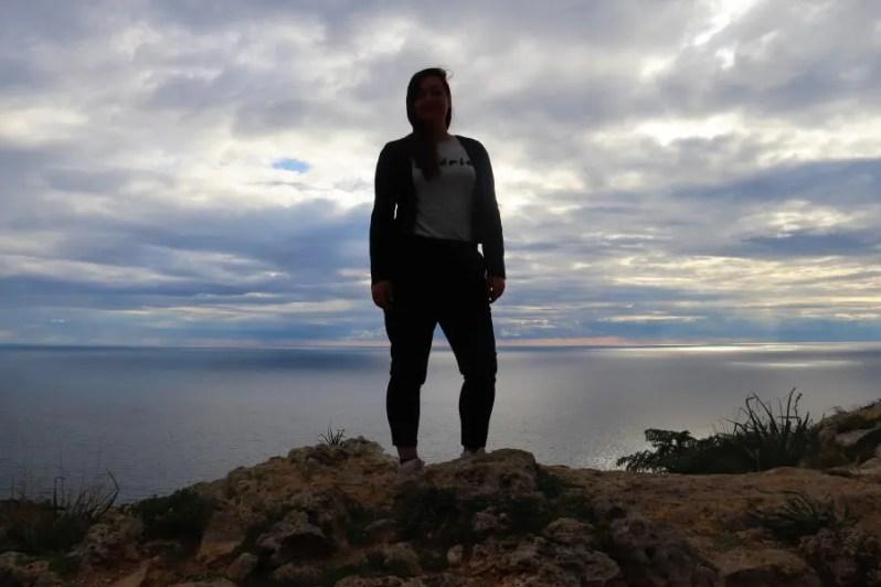 Uitzicht vanaf de Dingli Cliffs in Malta