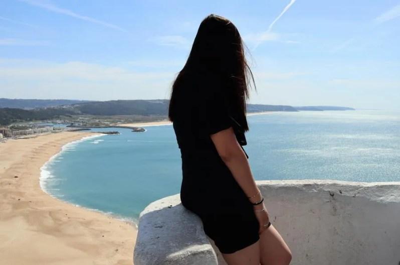 Uitzicht vanaf Nazarè