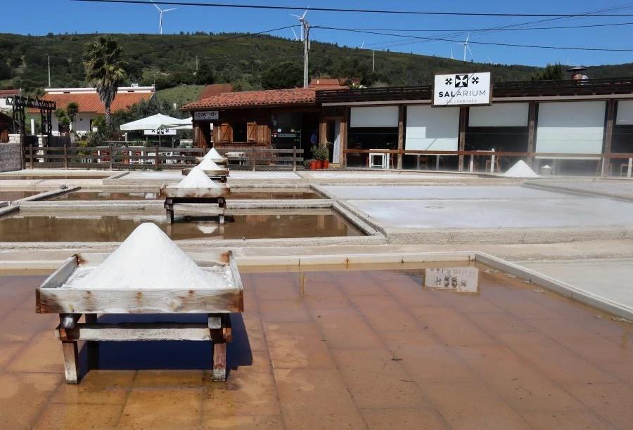 Bezoek aan de zoutpannen in Portugal