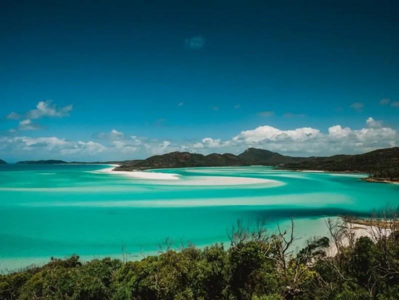 Whitehaven beach op de Whitsundayeilanden, Australië