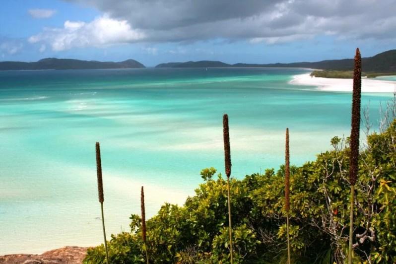 Whitehaven beach op de Whitsundayeilanden in Australië