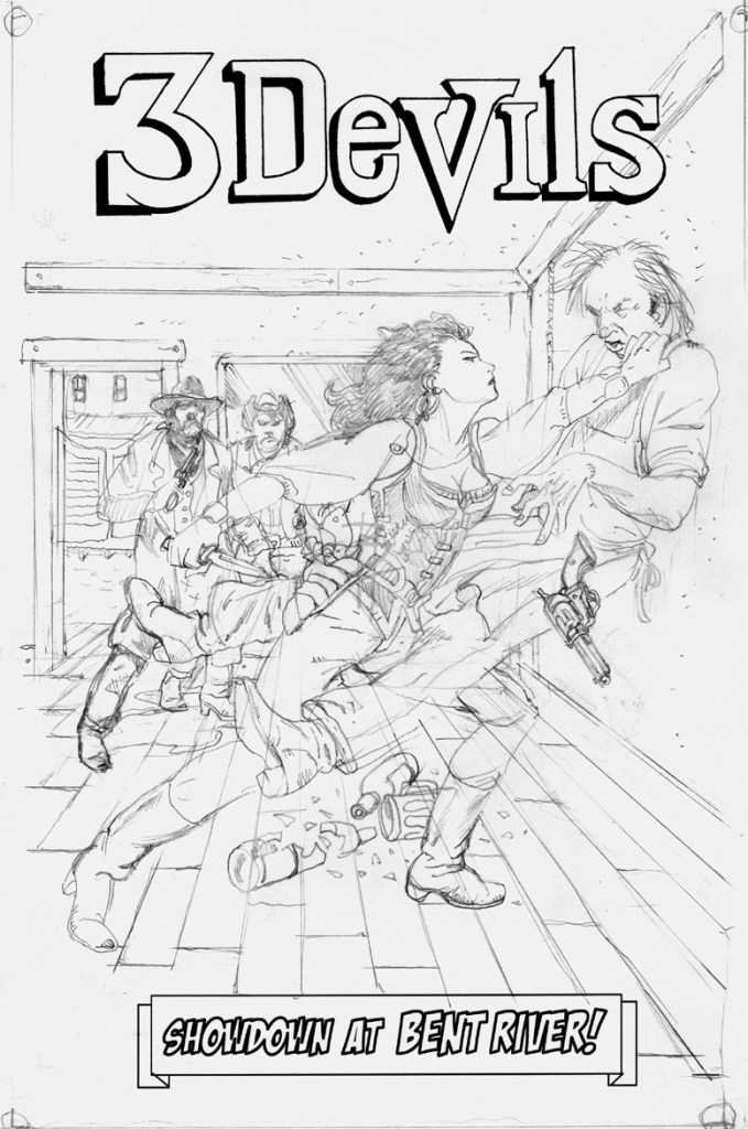 3 Devils #3 cover pencil LO RES
