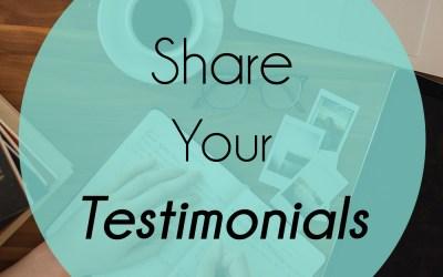 Sharing Testimonials