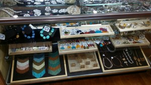 Big selection of jewelry, even some local wrapped stones, multiple brands to select from
