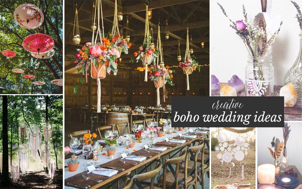 CURRENTLY LOVING 6 CREATIVE BOHO WEDDING IDEAS Bohemian