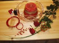 Christmas table arrangment