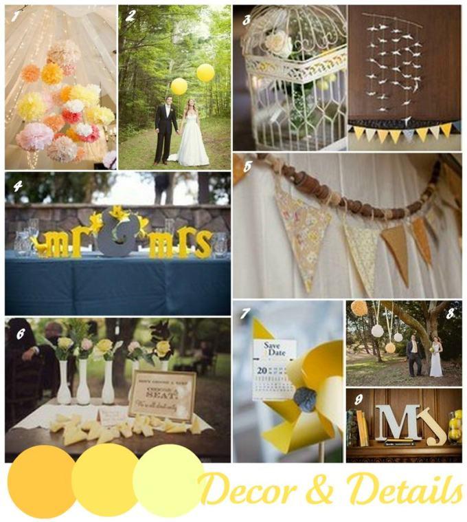 wedding trend - yellow