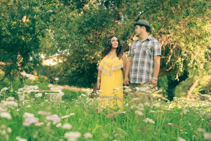 4 seasons engagement shoot