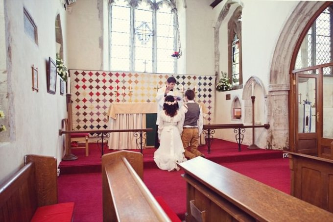 wedding ceremony at St. Michael's Church,Essex