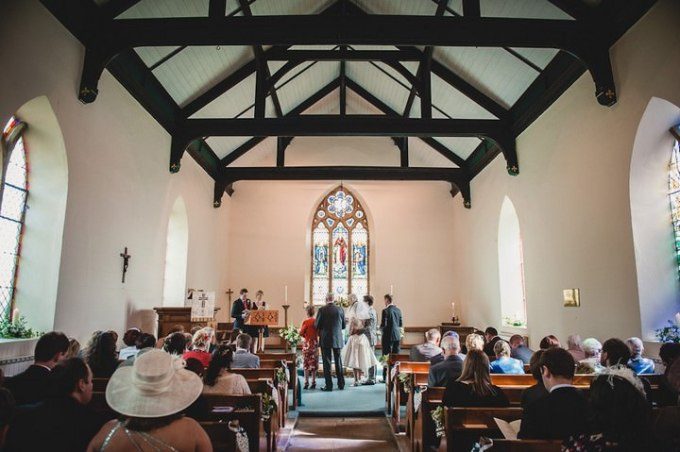 wedding ceremony at St Thomas Church, Glaisdale