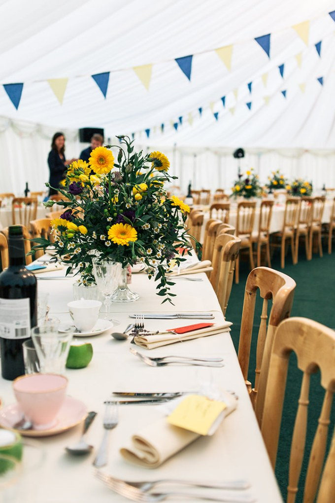 shabby chic wedding reception