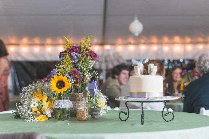 31 Burlap, Sunflowers and Hay Bale Wedding