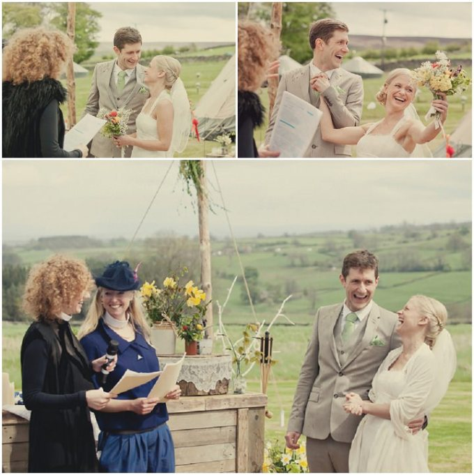 Outdoor Wedding Ceremony Yorkshire: Yorkshire Woodland Wedding At The Bivouac By Lissa Alexandra