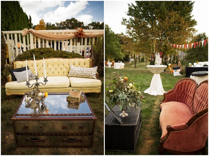 Backyard Wedding With A Touch Of Autumn Vintage Elegance