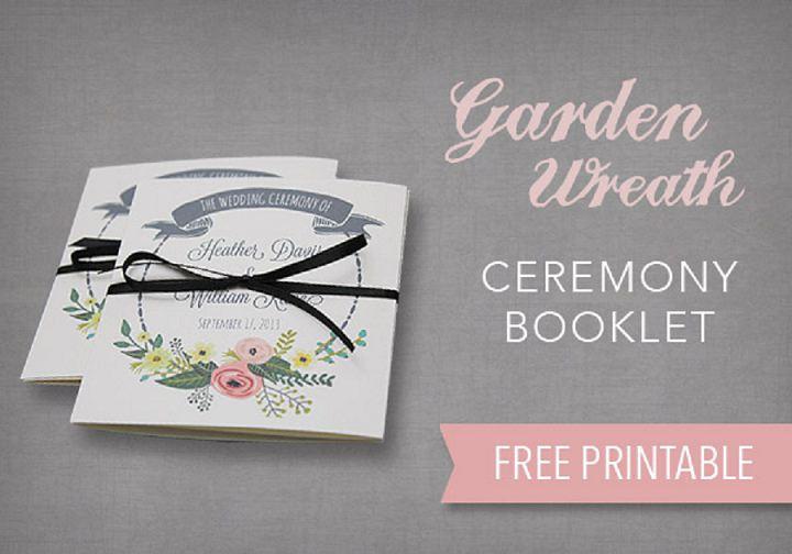 Garden Wreath Ceremony Booklet Free Printable