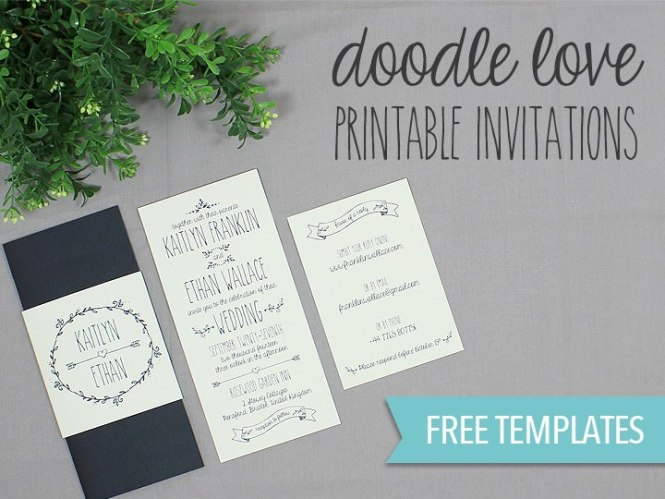 Diy Tutorial Free Printable Wedding Invitation Set Boho
