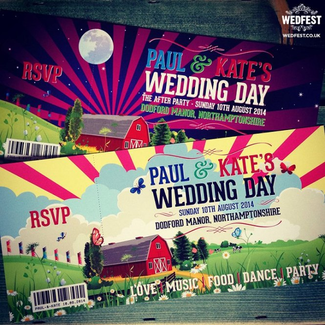 Concert Ticket Style Wedding Invitations Uk Wedding Invitation – Invitations That Look Like Concert Tickets