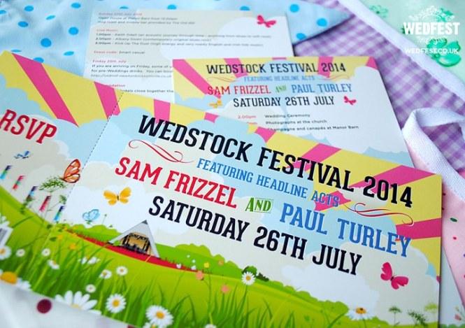 Wedfest Rock N Roll Wedding Stationery For Festival