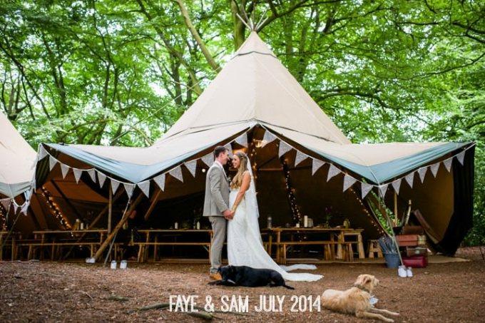 Real Woodland Weddings: Beautiful Woodland Tipi Wedding By Lucy Noble Photography