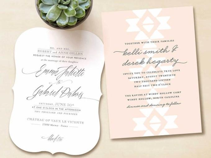 Fine Stationery Wedding Invitations: Boho Loves: Minted Wedding Stationery