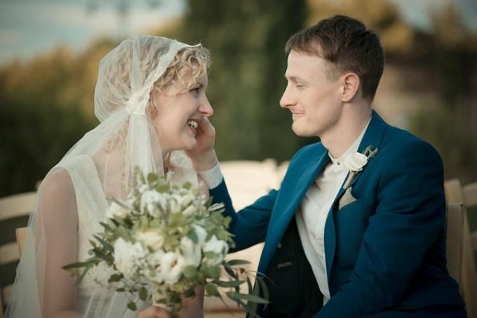 Tuscany Wedding Juliet Cap By David Bastianoni Photography