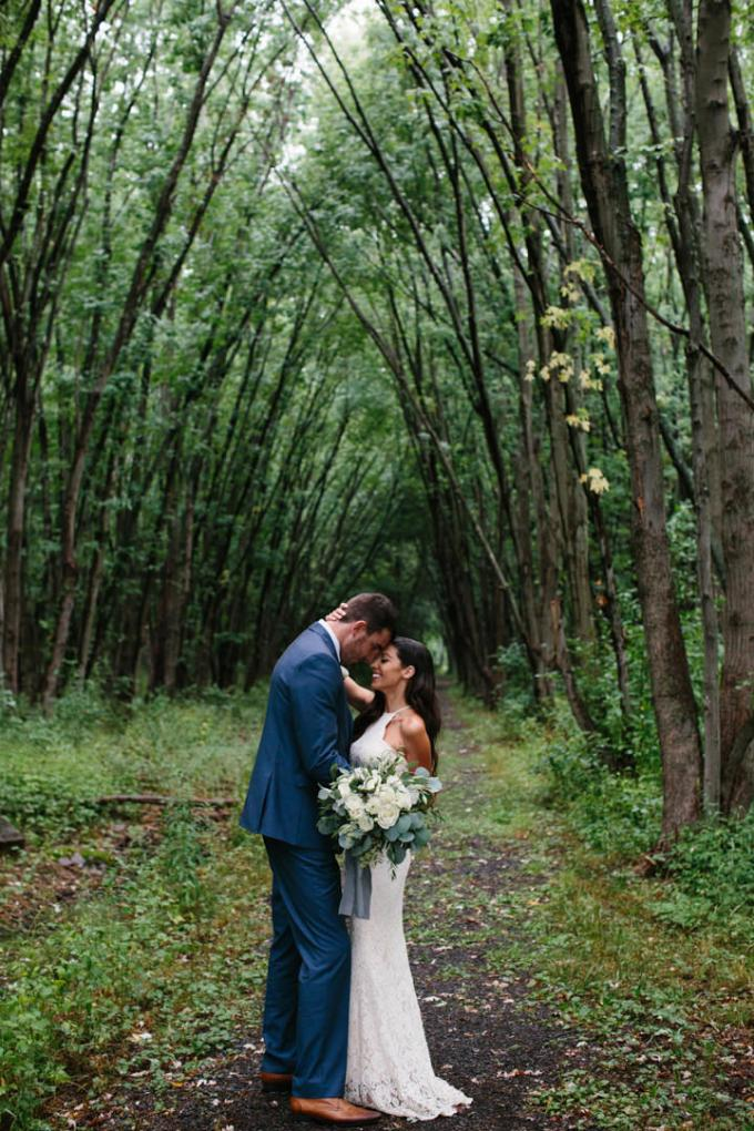 Jordan and Bobby's Rainy Outdoor Canadian Wedding with a Barefoot Boho Bride by Grace & Gold Studios