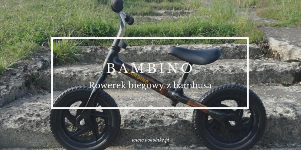 Bambino rowerek biegowy z bambusa logo
