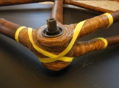 Łączenie tyczek w bambusowym rowerze Efekt 14