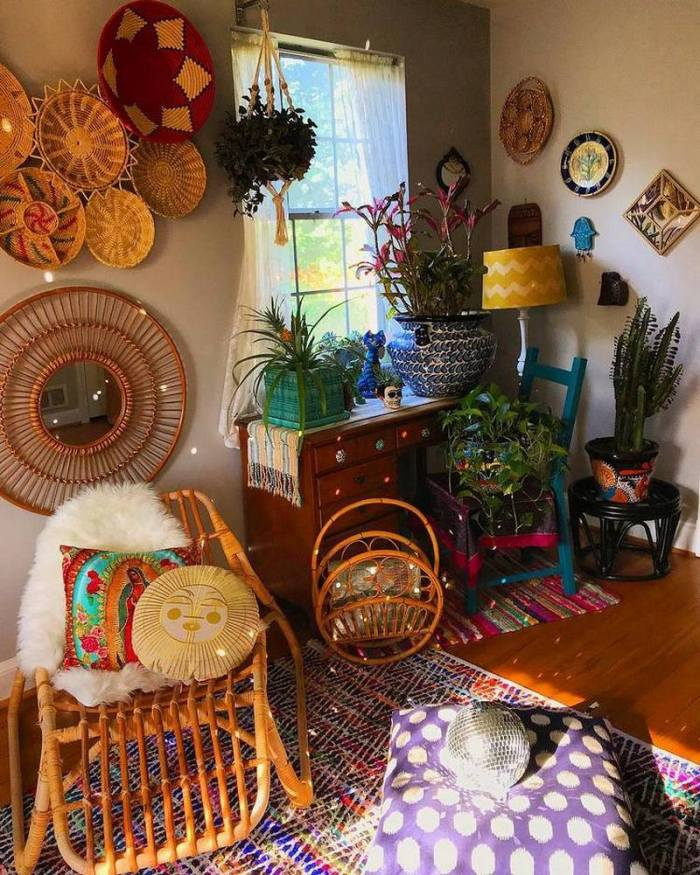bohemian home decor ideas (20)