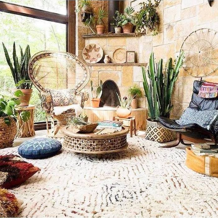 bohemian home decor ideas (36)