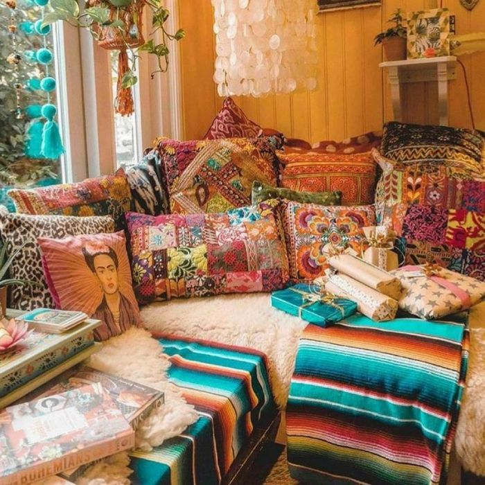 bohemian home decor ideas (41)