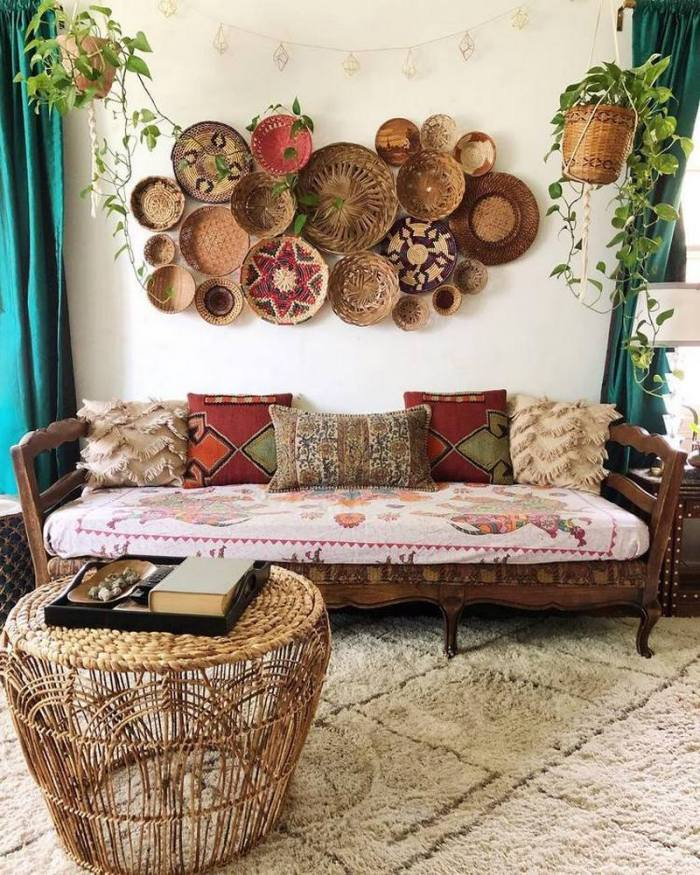 bohemian home decor ideas (54)