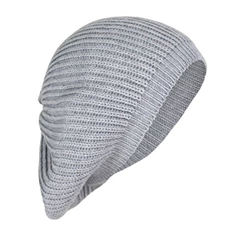 c06f6097d8c Cute Boho Cable Ribbed Knit Slouch Beret Cap- Chic Slouchy Beanie Winter Hat