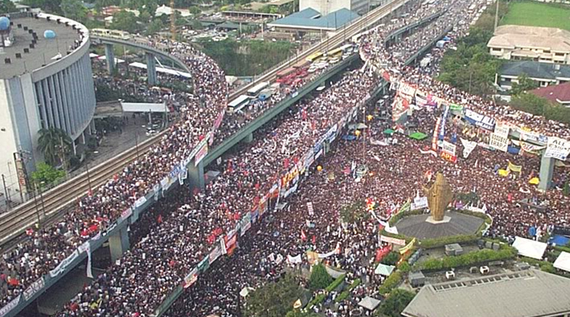Reminiscing 1986 EDSA People Power Revolution that toppled an authoritarian