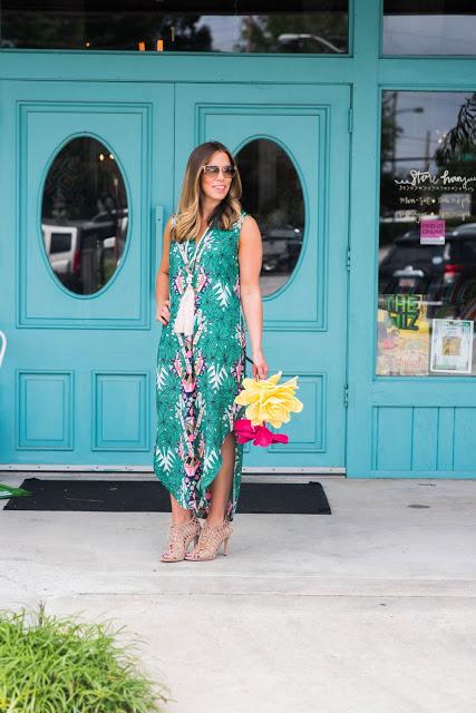 Turquoise Doors & Mara Hoffman Maxi
