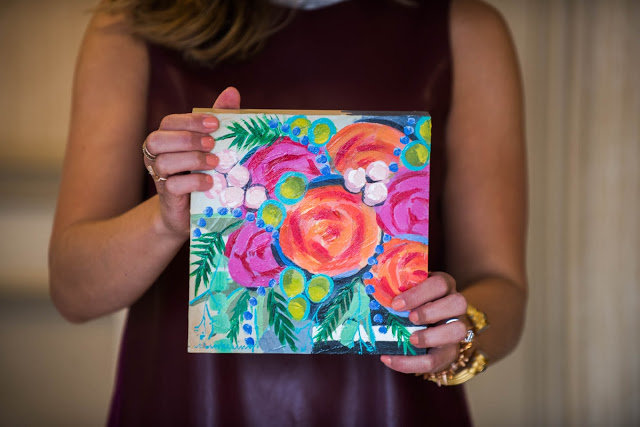 Floral Paintings {local artist} CBROOKERING