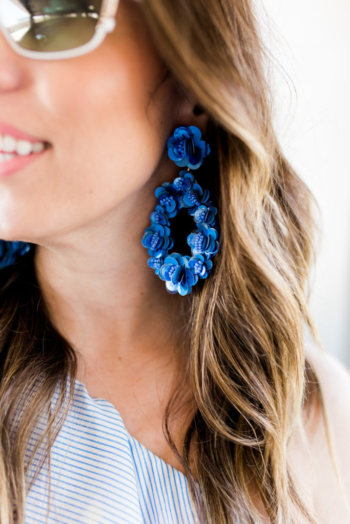 jcrew sequin petal earrings