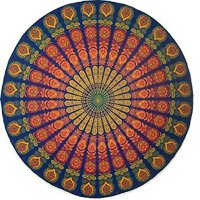 Indian Mandala Tapestry Hippy Boho Gypsy Tablecloth Beach Towel Round Yoga Mat Vovotrade(G)