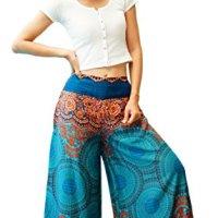 Firstharem Women Palazzo Wide Leg Boho Hippie Trouser Pants