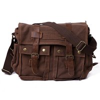 HDE Vintage Canvas Military Tactical Ammo Style Shoulder Messenger Field Bag