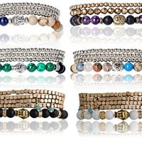 Peace, Tranquility Inner Happiness Buddha Charm Stretch Bracelets - SPUNKYsoul Collection