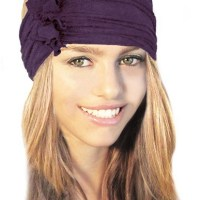 Stretch Chunky Wide Head-band, Hair-band, Boho Chic Head-wrap, Soft Cotton, ShariRose