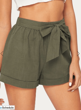 belted linen shorts to pack for the florida keys