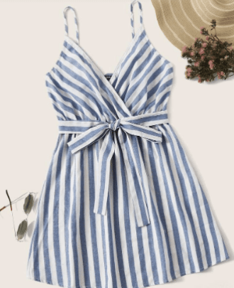 striped belted sun dress for what to pack for the florida keys