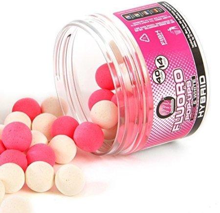 Hybrid Flouro Pop Ups, Pink und Creme von Mainline 444RED Ködern - 1